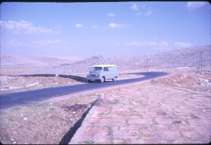 Roman road Syria, somewhere between Aleppo and the Turkish border, 8 June 1962